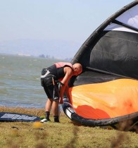 John-Sweeny-Pumping-Up-Kite-Pt-Buckler-Private-Kite-Island