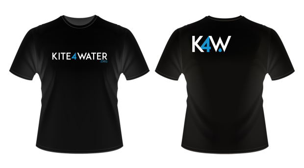 Kite 4 Water limited edition T-shirt in black